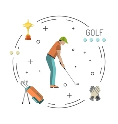 Playing game golf vector image vector image
