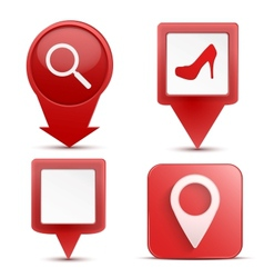 Pointer target for map vector image vector image