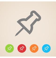 Push pin icons vector