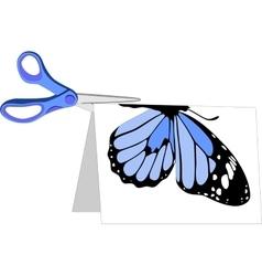 scissors color set 03 vector image vector image