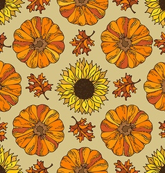Seamless harvest pattern vector