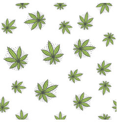 Seamless texture marijuana five vector