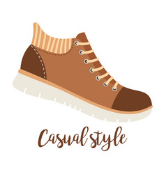 shoes with text casual style vector image