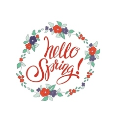 Spring art text vector image