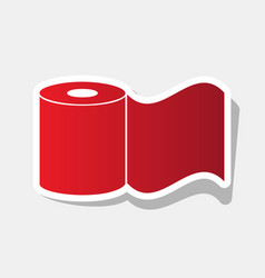 toilet paper sign new year reddish icon vector image