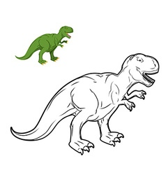 Tyrannosaurus Rex dinosaur coloring book vector image vector image