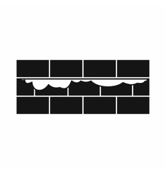 Brick wall icon simple style vector image
