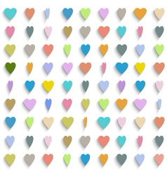 Colorful paper hearts vector image