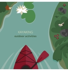 Kayak floating on the river vector image