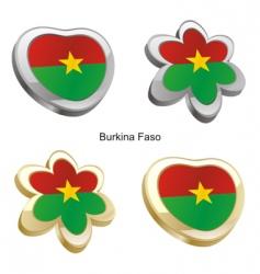 flag of Burkina Faso vector image