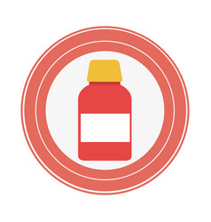 Medicine drugs isolated icon vector