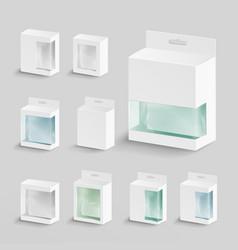White blank cardboard rectangle  white vector