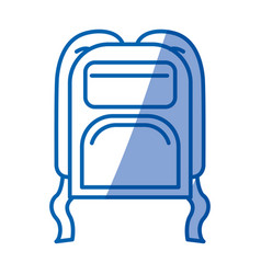 blue shading silhouette of backpack vector image