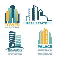 Simple rel estate emblems vector