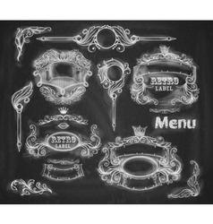 set of vintage banners Background chalkboard vector image