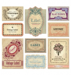 vintage labels set vector image