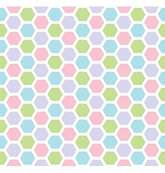 Multicolored hexagon geometric seamless background vector image