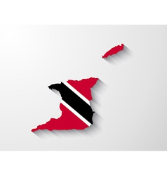Trinidad and tobago map with shadow effect vector