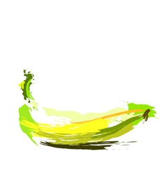 Drawing banana vector image