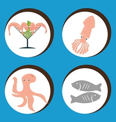Seafood design vector