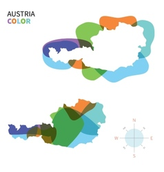Abstract color map of austria vector