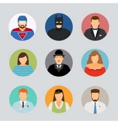 Avatar icons in flat design vector image