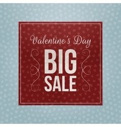 Valentines day red square paper greeting banner vector