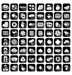 Big set of flat casino icons vector