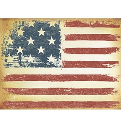 American themed flag background grunge aged vector