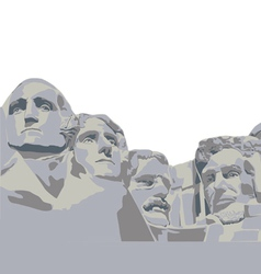 Four presidents mount rushmore vector