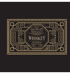 Antique frame vintage border whiskey label retro vector