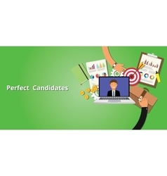 Perfect and best employee or candidate vector