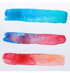 Abstract three watercolor shapes for background vector
