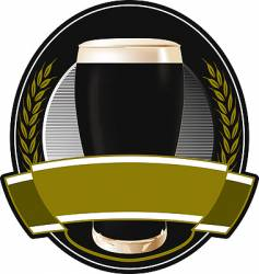 black beer label vector image