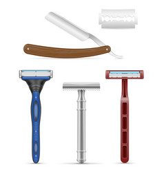 blade and razor for shaving stock vector image