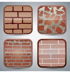 Brick wall buttons vector image vector image