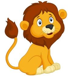 Cartoon lion sitting vector