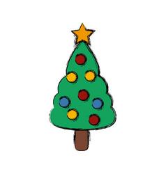 christmas tree symbol vector image vector image