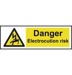 Danger electrocution risk safety sign vector
