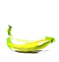 Drawing banana vector image vector image