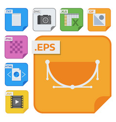 File types icons and formats labels file vector