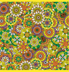 Floral decorative mandala style pattern vector