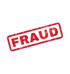 Fraud text rubber stamp vector