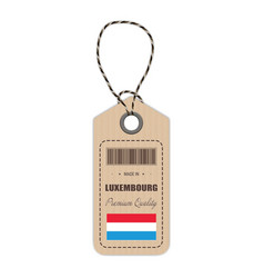 hang tag made in luxembourg with flag icon vector image vector image