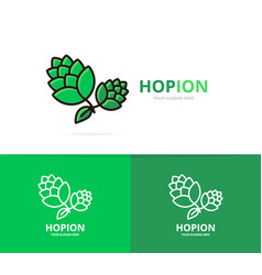 hop logo design template beer and bar vector image vector image