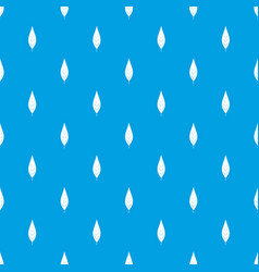 Leaf of willow pattern seamless blue vector