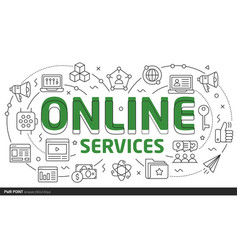 lines template online services vector image vector image
