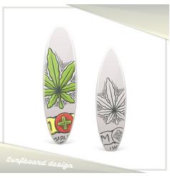 medical marijuana surfboard two vector image vector image
