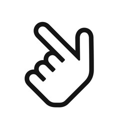 pointing hand icon vector image