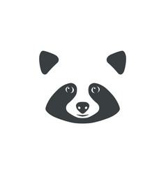 Raccoon face raccoon mascot idea for logo vector